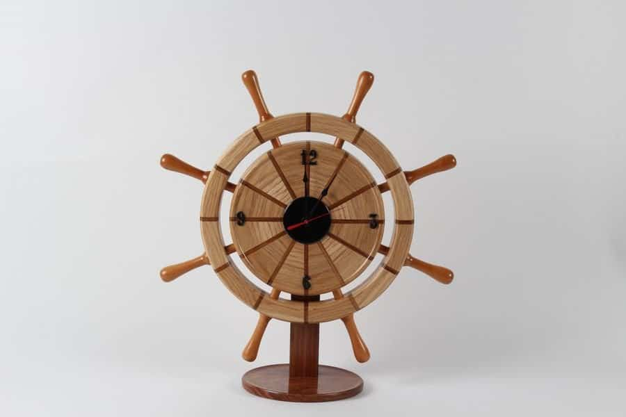 <h4>Highly Commended:</h4><h2> Jim Jackson</h2><h5> Ship's Wheel Clock</h5>