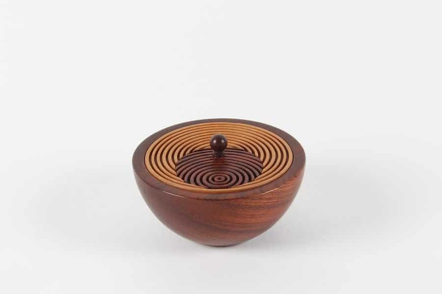 <h4>First:</h4><h2> Earl Hanson</h2><h5> Lidded Bowl</h5>
