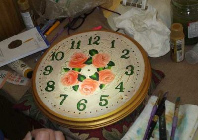 Jills hand painted Clock face