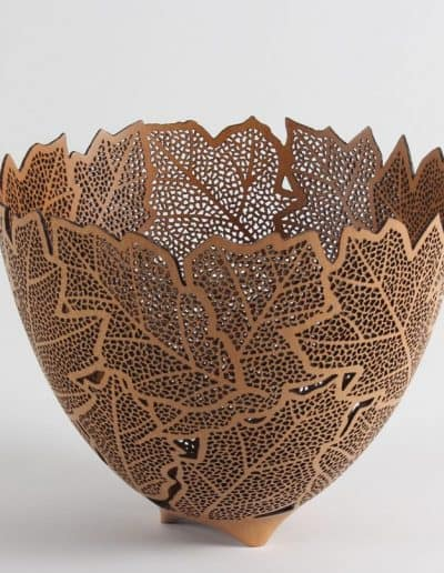 <h4>2nd </h4><h2>  Wim Nijmeijer</h2><h5> Oak Leaves Bowl