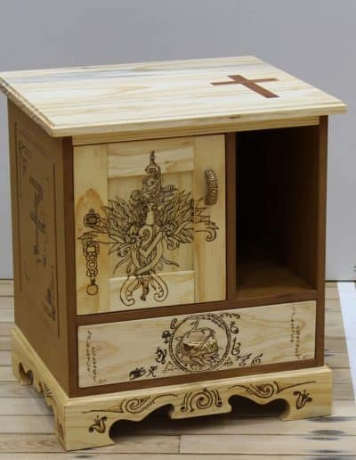 <h4>First:</h4><h2> Manaaki Tierney</h2><h5> Bedside Cabinet</h5>