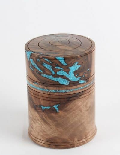<h4>Highly Commended:</h4><h2> Gideon du Toit</h2><h5> Black and Blue</h5><h5> Black Walnut and Turquoise</h5>