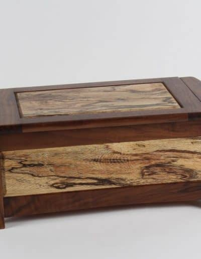 <h4>First:</h4><h2> Mike Buck</h2><h5> Treasure Chest</h5><h5> Spalted Rewarewa, Black Walnut</h5>