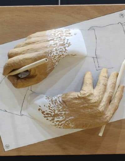 <h4>Highly Commended: </h4><h2>Susan Dinkelacker</h2><h5> Hands Drawing Themselves</h5>